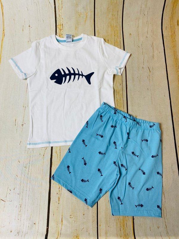 Fisch kurzer Schlafanzug